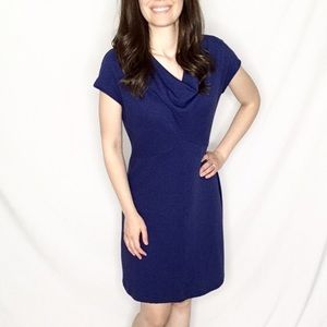 SALE! Lands' End | Deep Blue Cowl-Neck Midi Dress